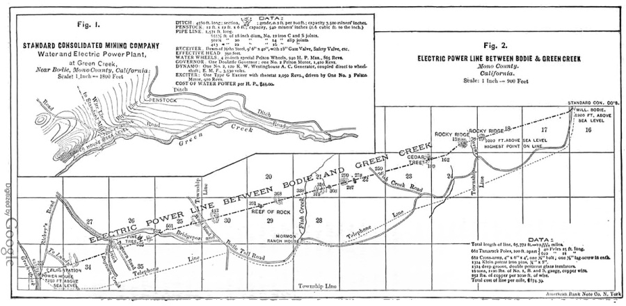 Green Creek Power Line map
