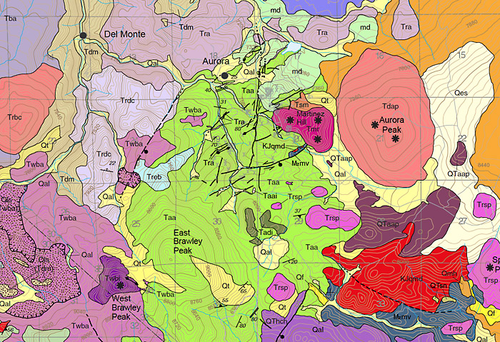 Geology map screenshot