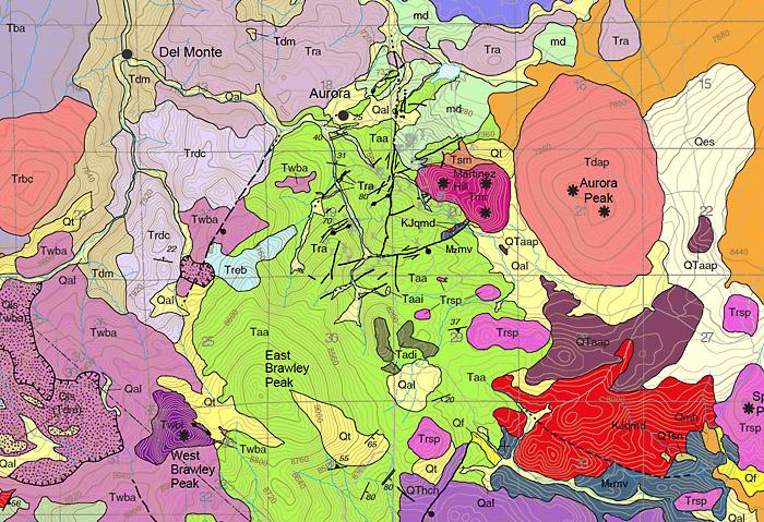 Geology map screenshot