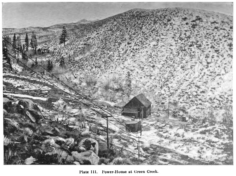 Green Creek Power House in 1894
