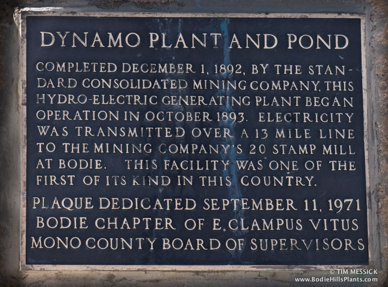 Dynamo Pond historic marker