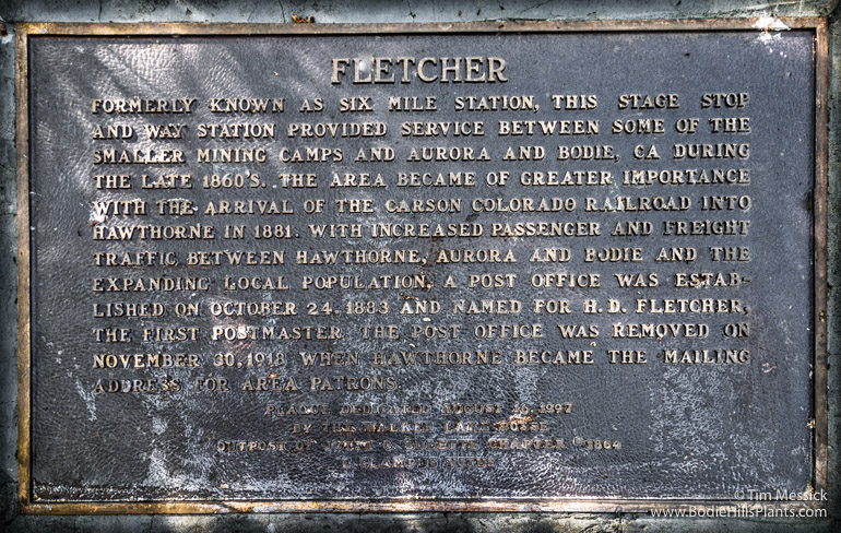 Plaque at Fletcher