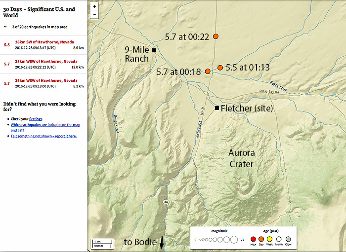 Fletcher Valley Earthquakes