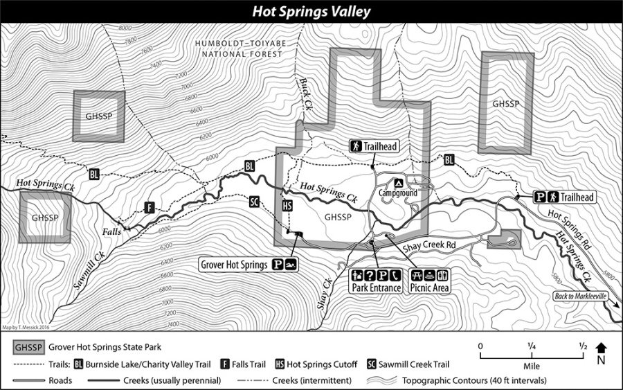 Map of Hot Springs Valley