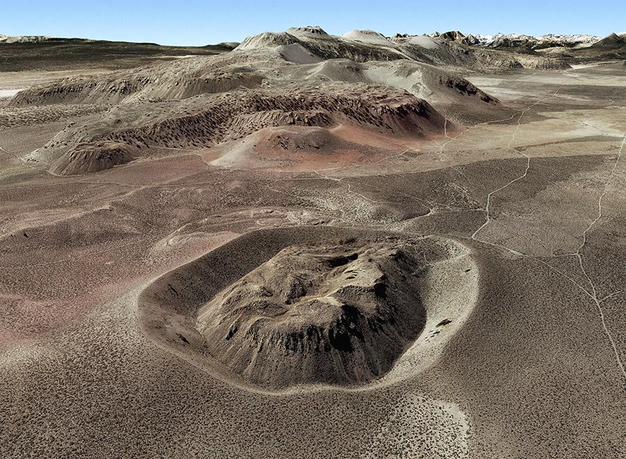 Panum Crater in Google Earth